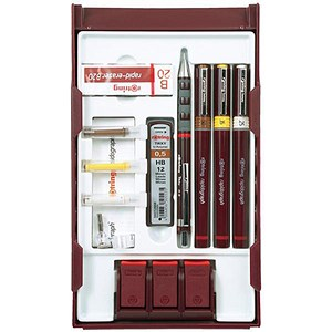 Image of Rotring Rapidograph College Set with 3 Pens