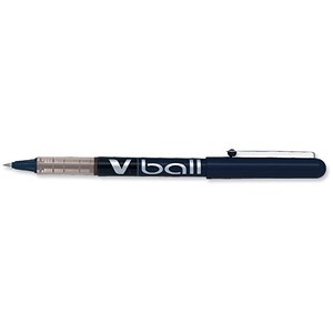 Image of Pilot VB5 Rollerball Pen / 0.5mm Tip / 0.3mm Line / Black / Pack of 12