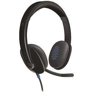 Image of Logitech H540 Headset USB Laser-tuned Speakers with On-ear Controls Ref 981-000480