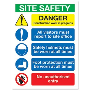 Image of Stewart Superior Foam Board Sign Site Safety 400x300mm Ref FB070