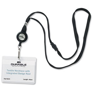Image of Durable Textile Necklace Reel for Name Badges with Safety Release - Pack of 10
