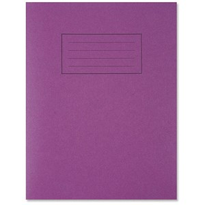 Image of Silvine Ruled Exercise Book / 229x178mm / With Margin / 80 Pages / Purple / Pack of 10