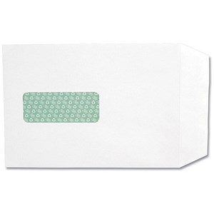 Image of Basildon Bond Recycled C5 Pocket Envelopes / Window / White / Peel & Seal / 120gsm / Pack of 50