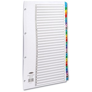 Image of Concord Index Dividers / 1-31 / Multicoloured Mylar Tabs / A4 / White