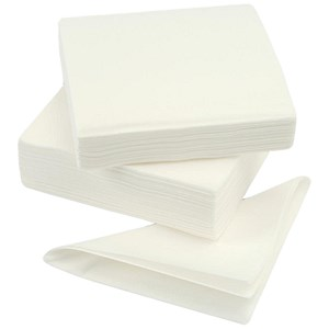 Image of High Quality Single Ply Napkins / 400x400mm / White / Pack of 600