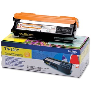 Image of Brother TN328Y Yellow Laser Toner Cartridge