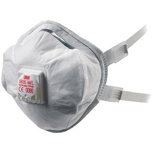 Image of 3M Valved Respirator / FFP3 Classification / White / Pack of 5