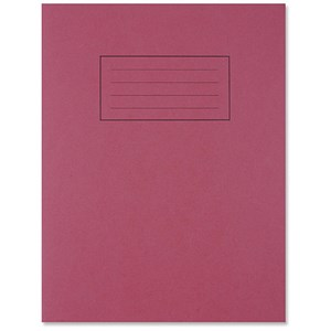 Image of Silvine Ruled Exercise Book / 229x178mm / With Margin / 80 Pages / Red / Pack of 10