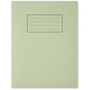Image of Silvine Ruled Exercise Book / 229x178mm / With Margin / 80 Pages / Green / Pack of 10