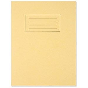 Image of Silvine Ruled Exercise Book / 229x178mm / With Margin / 80 Pages / Yellow / Pack of 10
