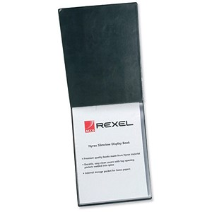 Image of Rexel Nyrex Slimview Display Book / 50 Pockets / A4 / Black
