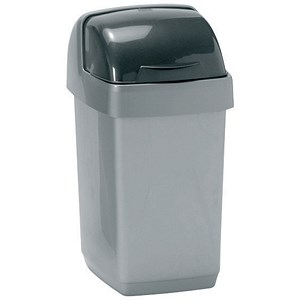 Image of Addis Roll Top Bin / 10 Litres / Metallic Silver