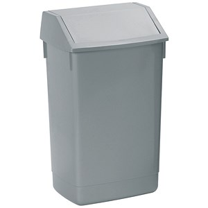 Image of Flip Top Bin / 60 Litres / Metallic