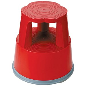 Image of 5 Star Mobile Step Stool / Plastic / Red