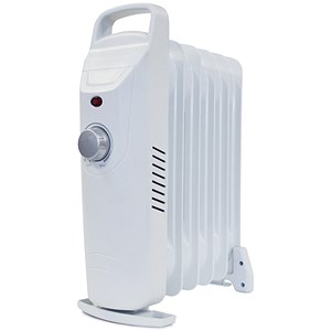 Image of 5 Star Mini Radiator Oil Filled with Thermostat for 5m.sq 800W