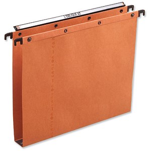 Image of Elba Ultimate A20 Suspension Files / Square Base / 30mm Capacity / A4 / Orange / Pack of 25