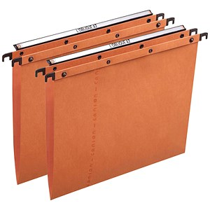 Image of Elba Ultimate A20 Suspension Files / V Base / 15mm Capacity / Foolscap / Orange / Pack of 25