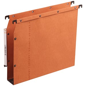 Image of Elba Ultimate AZV Lateral Suspension Files / 330mm Width / 30mm Base / A4 / Orange / Pack of 25