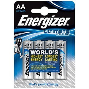 Image of Energizer Ultimate Lithium Battery / LR06 / 1.5V / AA / Pack of 4