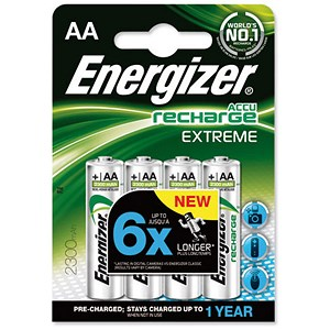 Image of Energizer Advanced Rechargeable Battery / NiMH Capacity 2300mAh LR06 / 1.2V / AA / Pack of 4