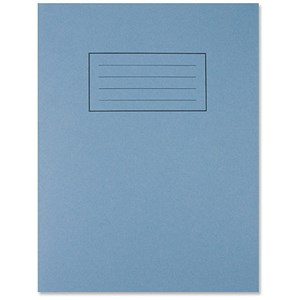 Image of Silvine Ruled Exercise Book / 229x178mm / With Margin / 80 Pages / Blue / Pack of 10