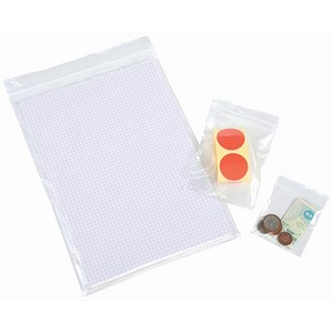 Image of Grip Seal Polythene Bags / 40 Micron / 150x229mm / Pack of 1000