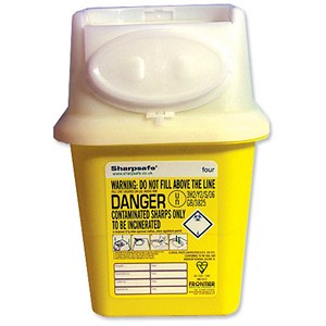 Image of Wallace Cameron Sharps Disposal Bin Anti-contamination First Aid 4 Litre Ref 4402001