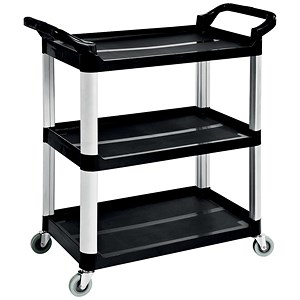 Image of 5 Star 3 Shelf Utility Tray Trolley - Capacity 150kg