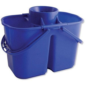 Image of Duo Mop Bucket / 15 Litre Capacity in Total / Blue