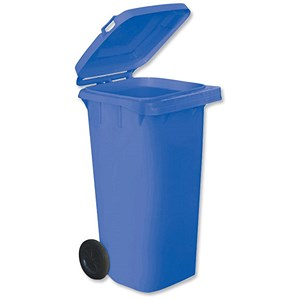 Image of Wheelie Bin with Rear Wheels / 120 Litre / Blue