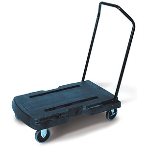 Image of Rubbermaid Triple Trolley - Capacity 180kg