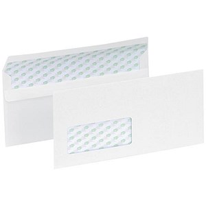 Image of 5 Star Eco Recycled DL Envelopes / Window / White / Press Seal / 90gsm / Pack of 1000