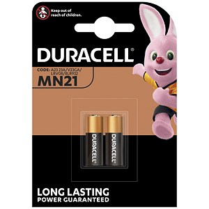 Image of Duracell MN21 Alkaline Battery for Camera Calculator or Pager / 1.2V / Pack of 2