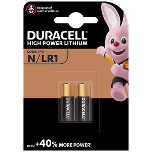 Image of Duracell MN9100N Alkaline Battery for Camera Calculator or Pager / 1.5V / Pack of 2