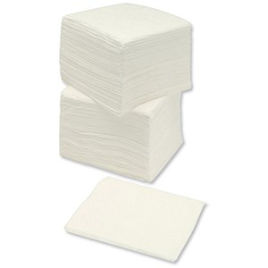 Image of Single Ply Economy Napkins / 300x300mm / White / Pack of 500