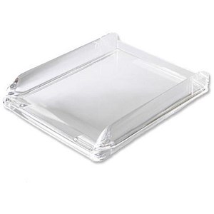 Image of Rexel Nimbus Self-stacking Letter Tray - Clear Acrylic