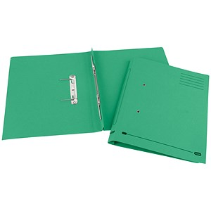Image of Elba Boston Spiral Transfer Spring File 320gsm Foolscap Green Ref 100090036 [Pack 25]
