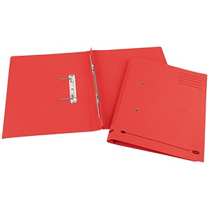 Image of Elba Boston Spiral Transfer Spring File 320gsm Foolscap Red Ref 100090038 [Pack 25]