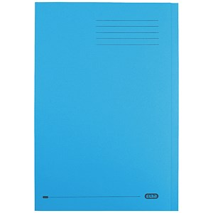 Image of Elba StrongLine Square Cut Folder Heavyweight 320gsm 32mm Foolscap Blue Ref 100090020 [Pack 50]