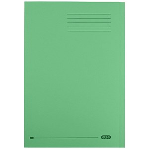 Image of Elba StrongLine Square Cut Folders / 320gsm / Foolscap / Green / Pack of 50