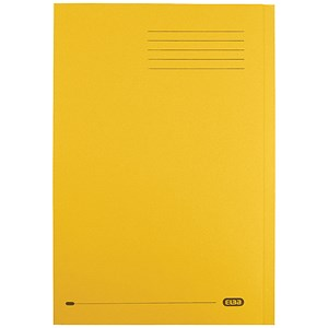 Image of Elba StrongLine Square Cut Folder Heavyweight Capacity 32mm Foolscap Yellow Ref 100090023 [Pack 50]