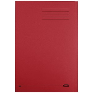 Image of Elba StrongLine Square Cut Folder Heavyweight Capacity 320gsm 32mm Foolscap Bordeaux Ref 100090025 [Pack 50]