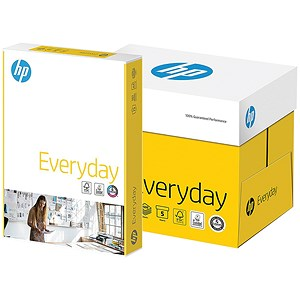 Image of HP A4 Everyday Paper / White / 75gsm / Box (5 x 500 Sheets)