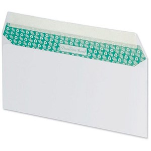 Image of Basildon Bond Recycled Plain DL Envelopes / White / Peel & Seal / 120gsm / Pack of 100