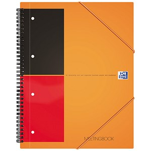 Image of Oxford International Meeting Book / A4+ / 2 Wire 2 Margin Ruled / 160 Pages / Pack of 5