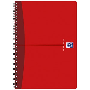 Image of Oxford Office Soft Cover Wirebound Notebook / A4 / 180 Pages / Random Colour / Pack of 5