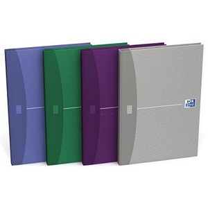 Image of Oxford Office Hard Cover Casebound Notebook / A5 / 192 Pages / Random Colour / Pack of 5