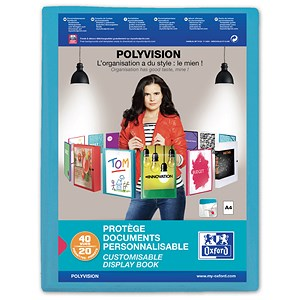 Image of Elba Polyvision Display Book / 20 Blue Pockets / A4