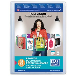 Image of Elba Polyvision Display Book / 20 Clear Pockets / Clear / A4