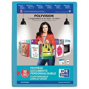 Image of Elba Polyvision Display Book / 40 Clear Pockets / Blue / A4